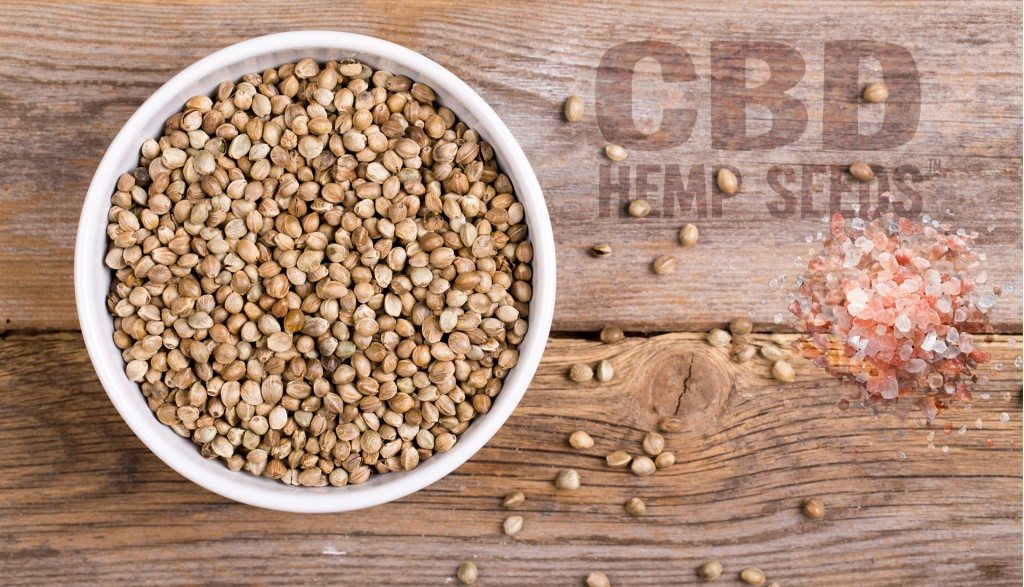 CBD Hemp Seeds with Pink Salt