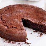 Flourless Chocolate Cake with CBD oil
