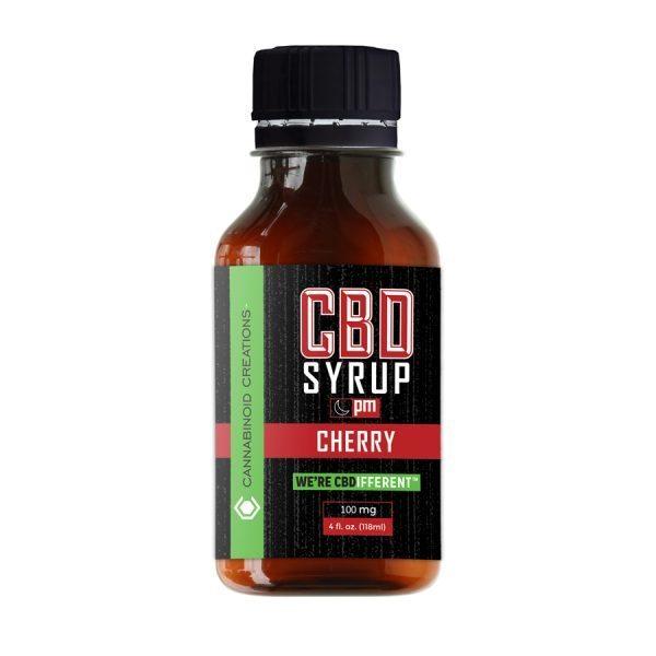 Cherry PM CBD Syrup, Cherry PM Hemp Syrup
