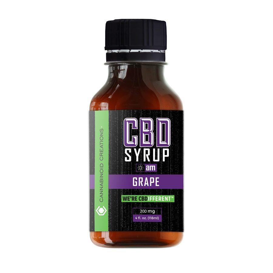 Grape AM CBD Syrup, Grape AM Hemp Syrup
