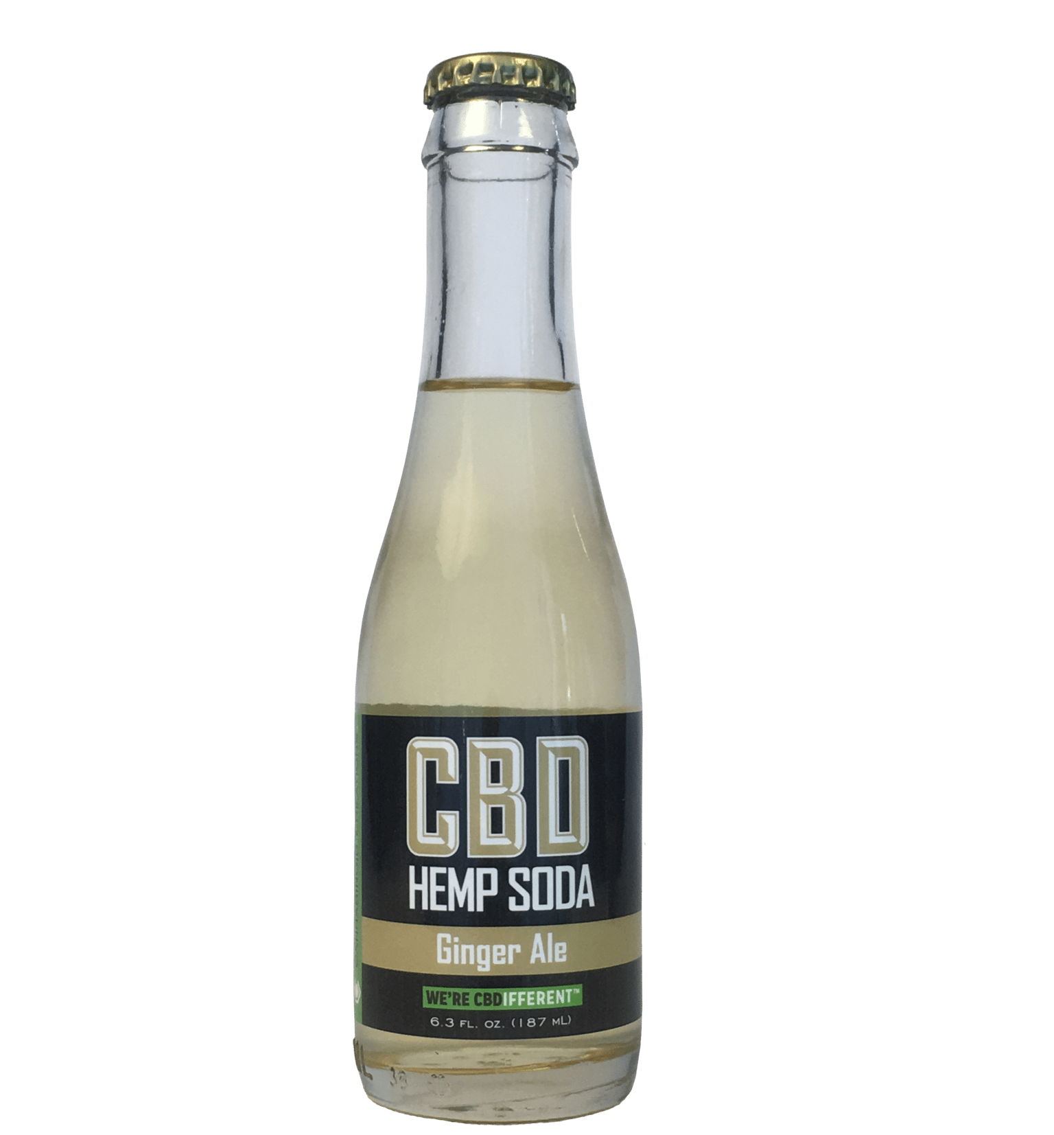 Hemp CBD Ginger Ale - Hemp Soda, CBD Pop